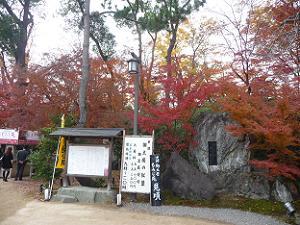もみじ苑の入り口付近の紅葉