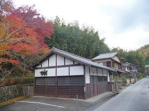 化野念仏寺付近の紅葉