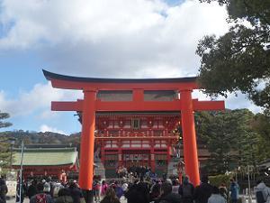 鳥居と楼門