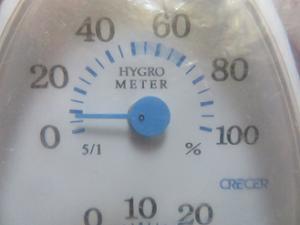 湿度10度未満