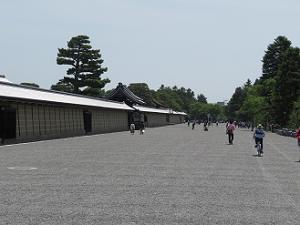 京都御所の西側