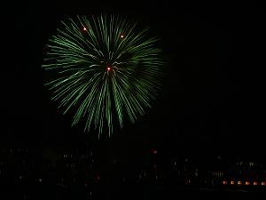 緑色の花火