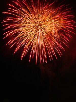 赤色の花火