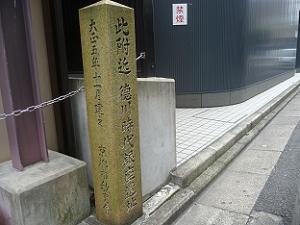 此附近 徳川時代銀座遺址