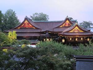 天狗山から見る本殿