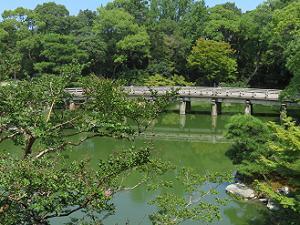 九条池と高倉橋