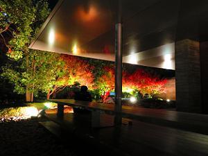 休憩所の紅葉