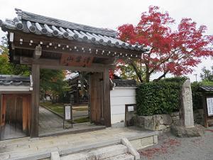 圓成寺の山門と紅葉