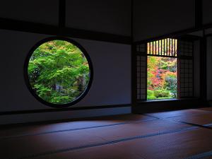 悟りの窓(左)と迷いの窓(右)