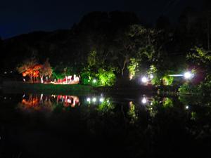 小倉池のライトアップ