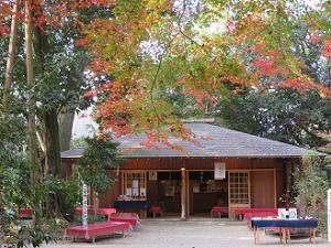 休憩処と紅葉