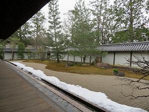 方丈の南側の庭園