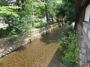 南に流れる高瀬川