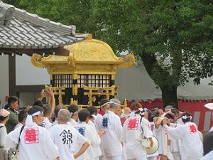 東御座の神輿の登場