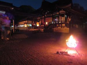 篝火と頓宮