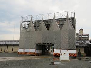 工事中の阿弥陀堂門