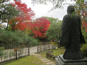 親鸞聖人と紅葉
