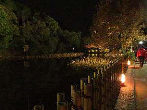小倉池脇の遊歩道