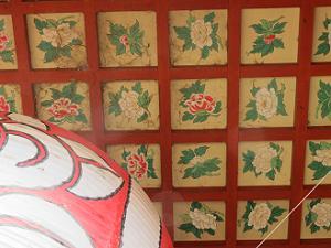宝塔寺の花天井