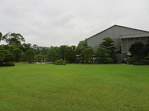 本丸庭園の芝生