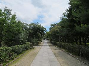 無人の参道