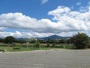 比叡山と空