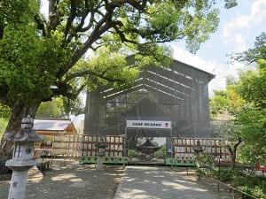 工事中の拝殿