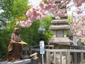 普賢象桜と紫式部