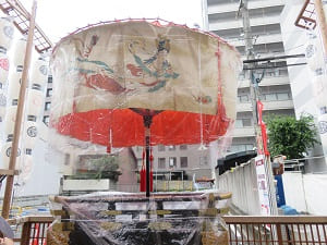 綾傘鉾の飛天の図