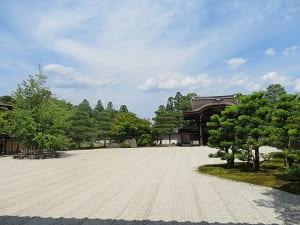 白書院から見る南庭