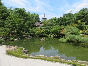 北庭の池と五重塔