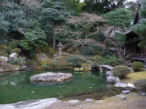 龍心池と巨石