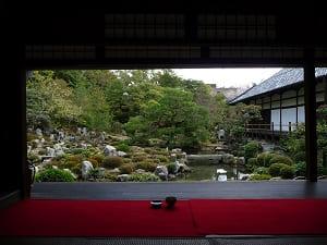 書院から見る芙蓉池