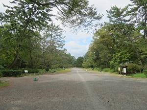 無人の京都御苑